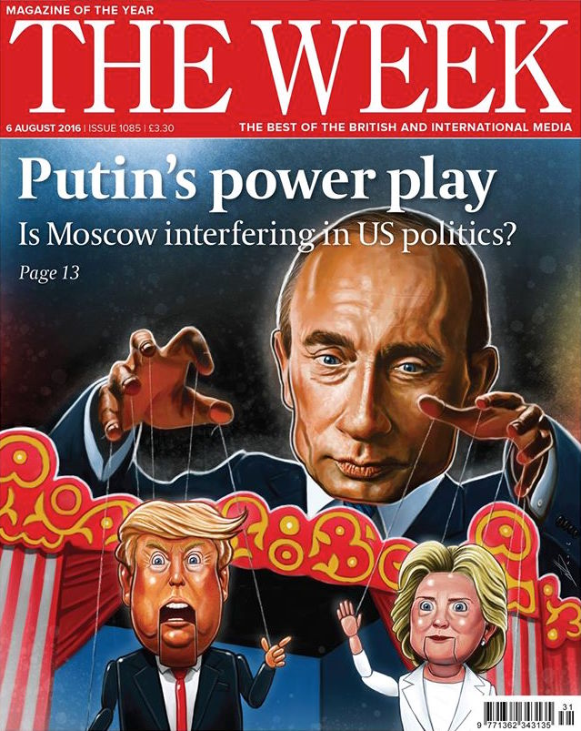 The Week Front Cover - Putin's Power Play - Moscow interfering in US Politics?