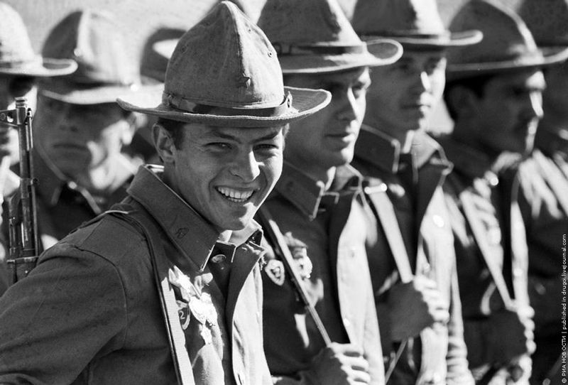 Smiling Russian Soldiers