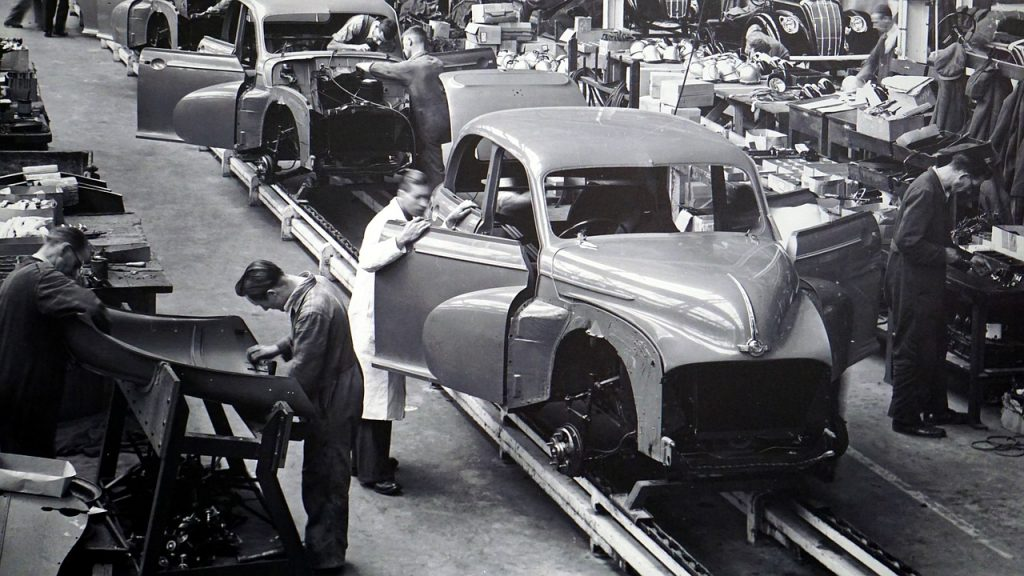 GDP - Gross Domestic Product used to be based on manufacturing