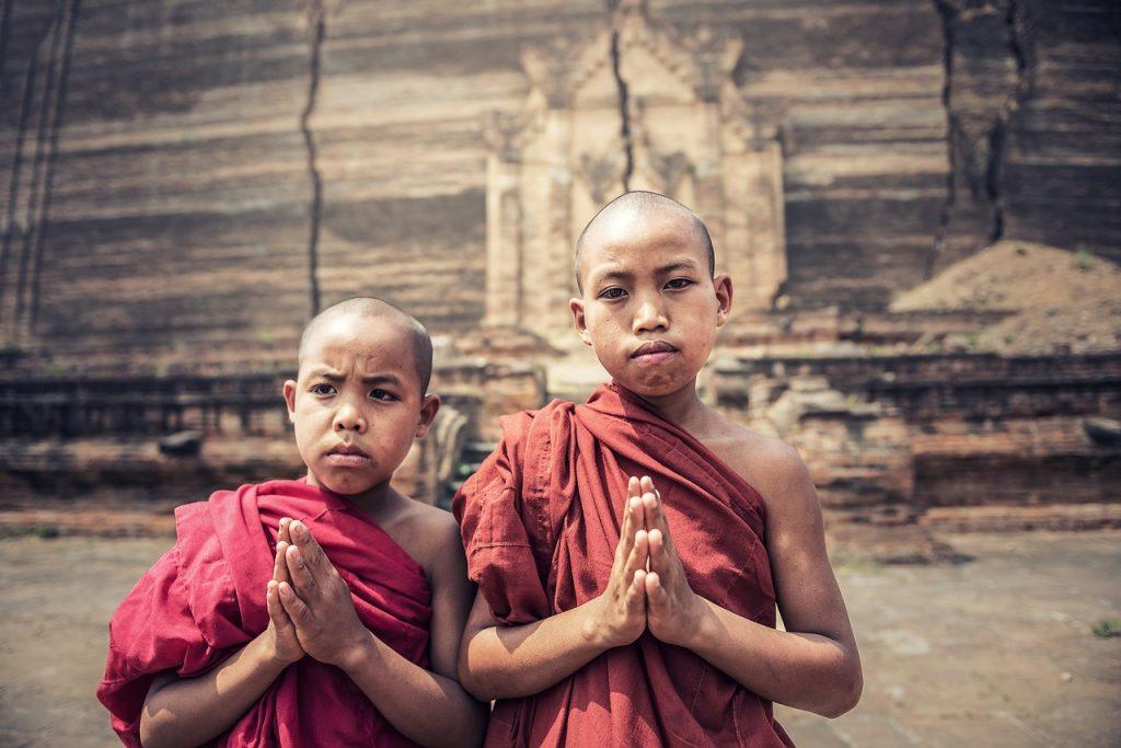 Myanmar Burma Burmese Boy Monks