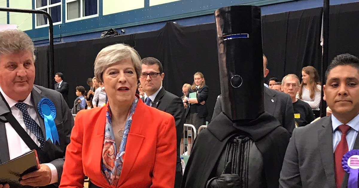 UK Election Special - Theresa May With Lord Buckethead