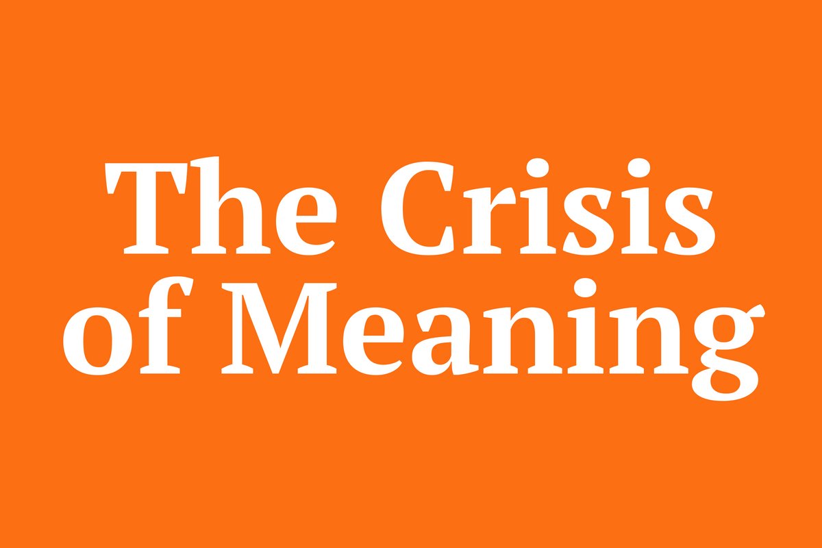 The Crisis Of Meaning